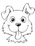 Dog template colouring pages page 2