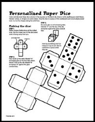 graphic relating to Dice Printable titled Printable Cube